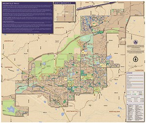 2015 Broomfield Trails Map - Front