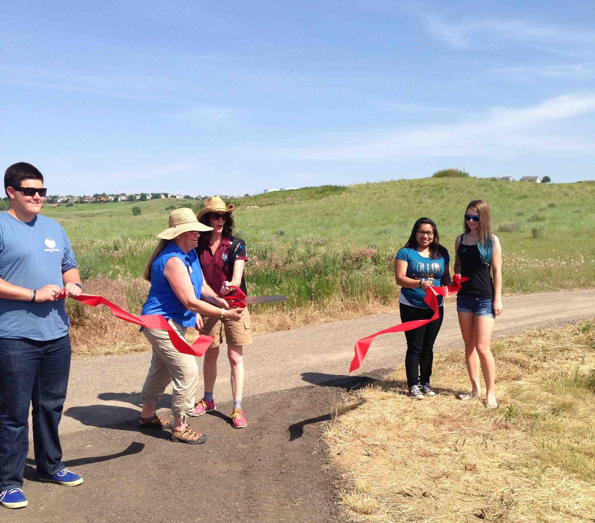 Ribbon cutting Ruth Roberts Trail