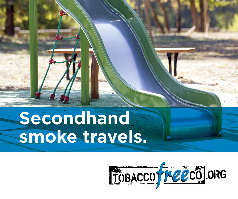 Secondhand smoke travels