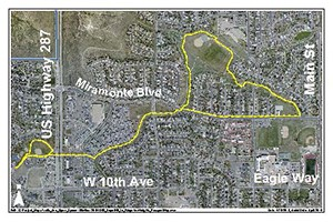 Depot Hill and Ridgeview Heights Loop Map