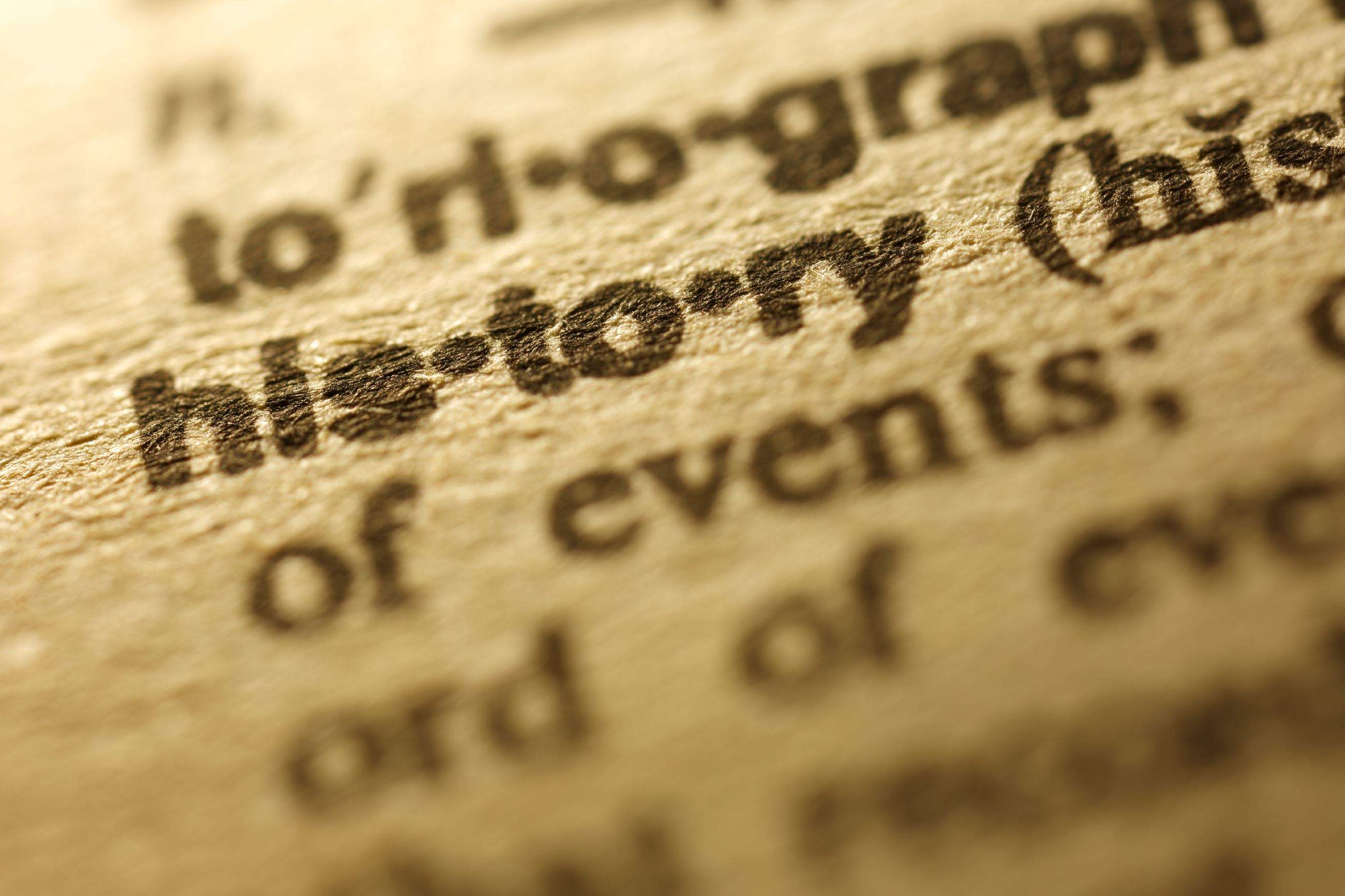 iStock_000072751857_History in Dictionary