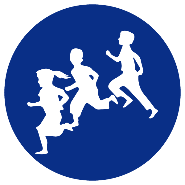 blue heading icons_kids running