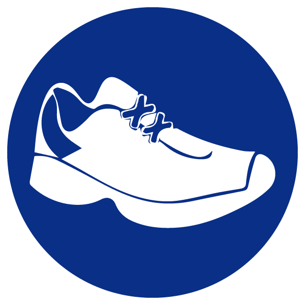blue heading icons_shoe