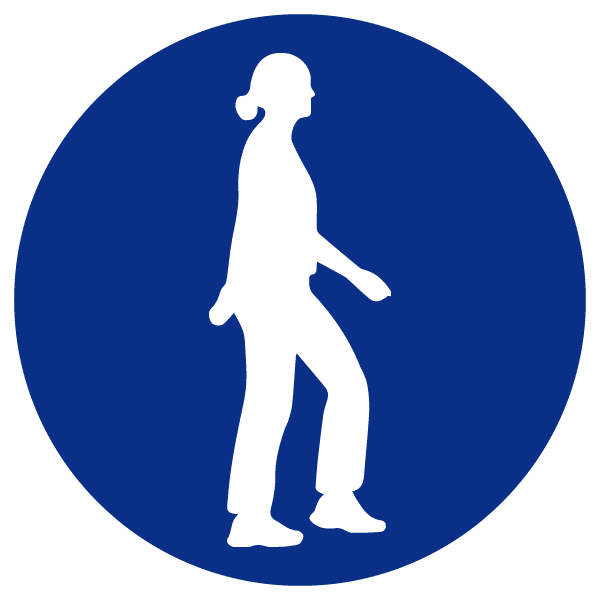 blue heading icons_walking