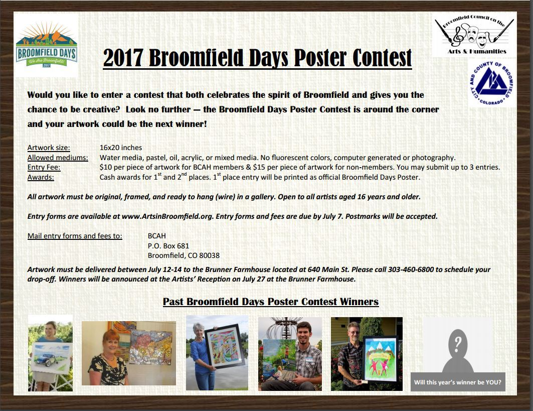 Broomfield Days 2017 Poster Contest Info