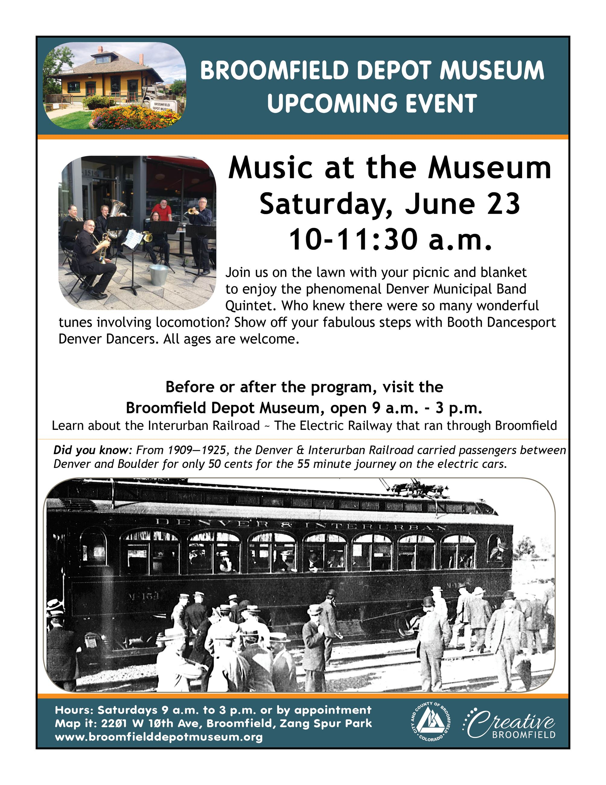 2018 Music at the Museum Flyer