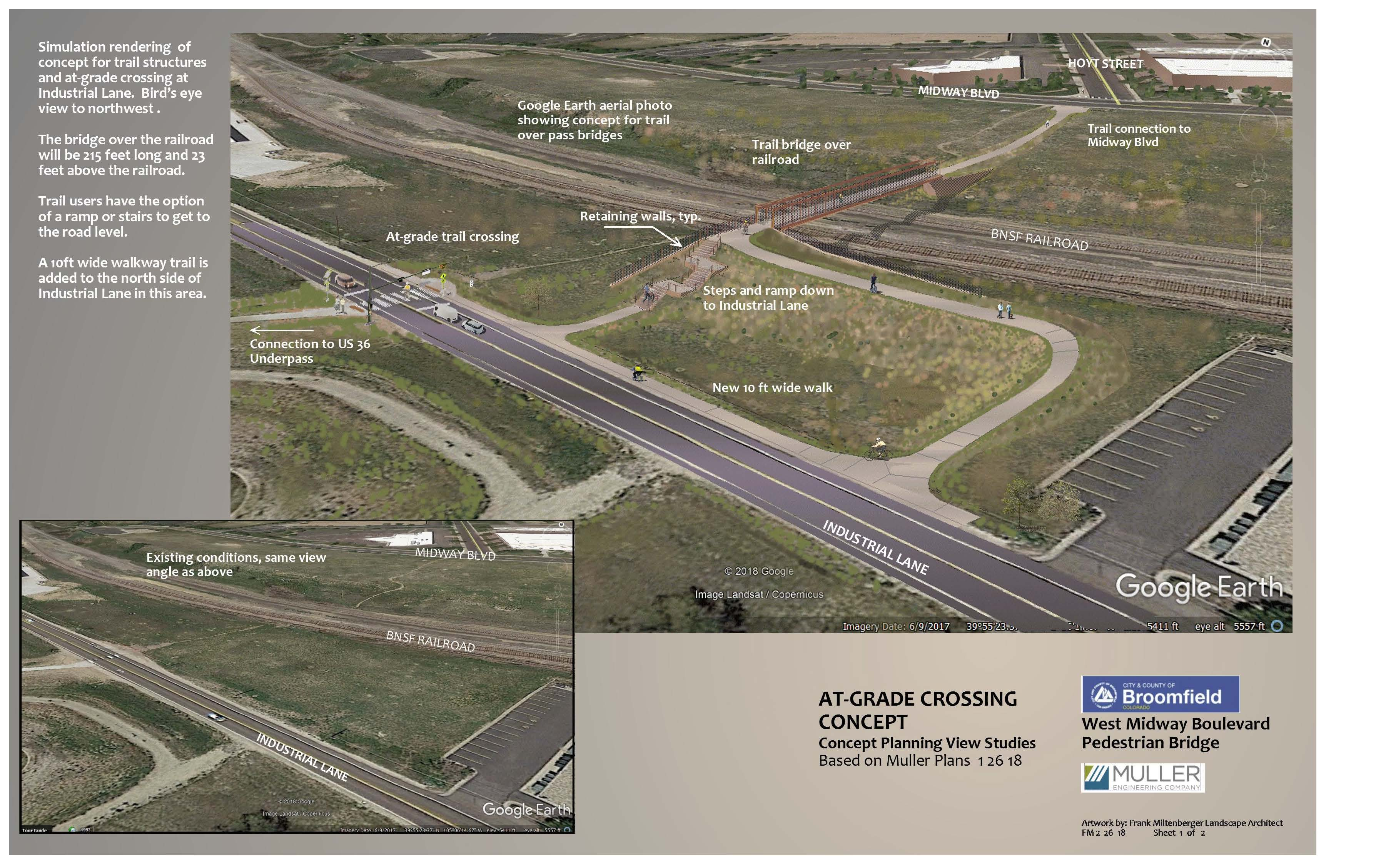 Website Midway Pedestrian Bridge At-Grade Rendering