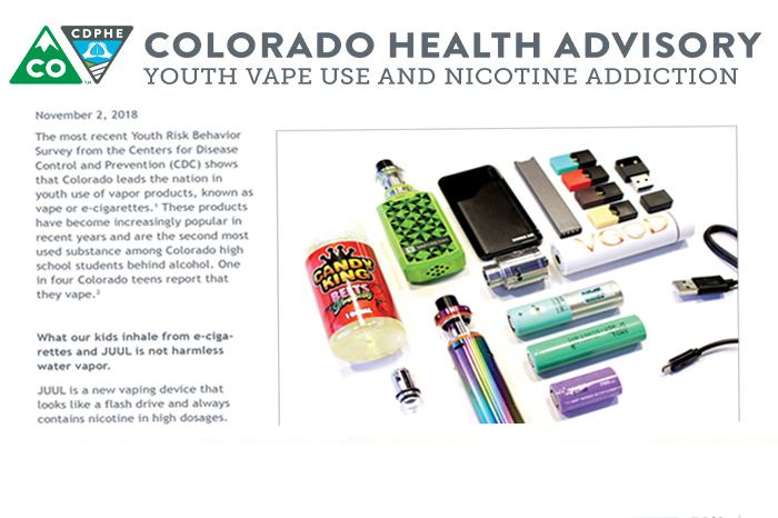 Colorado Department of Public Health and Environment Youth Vaping