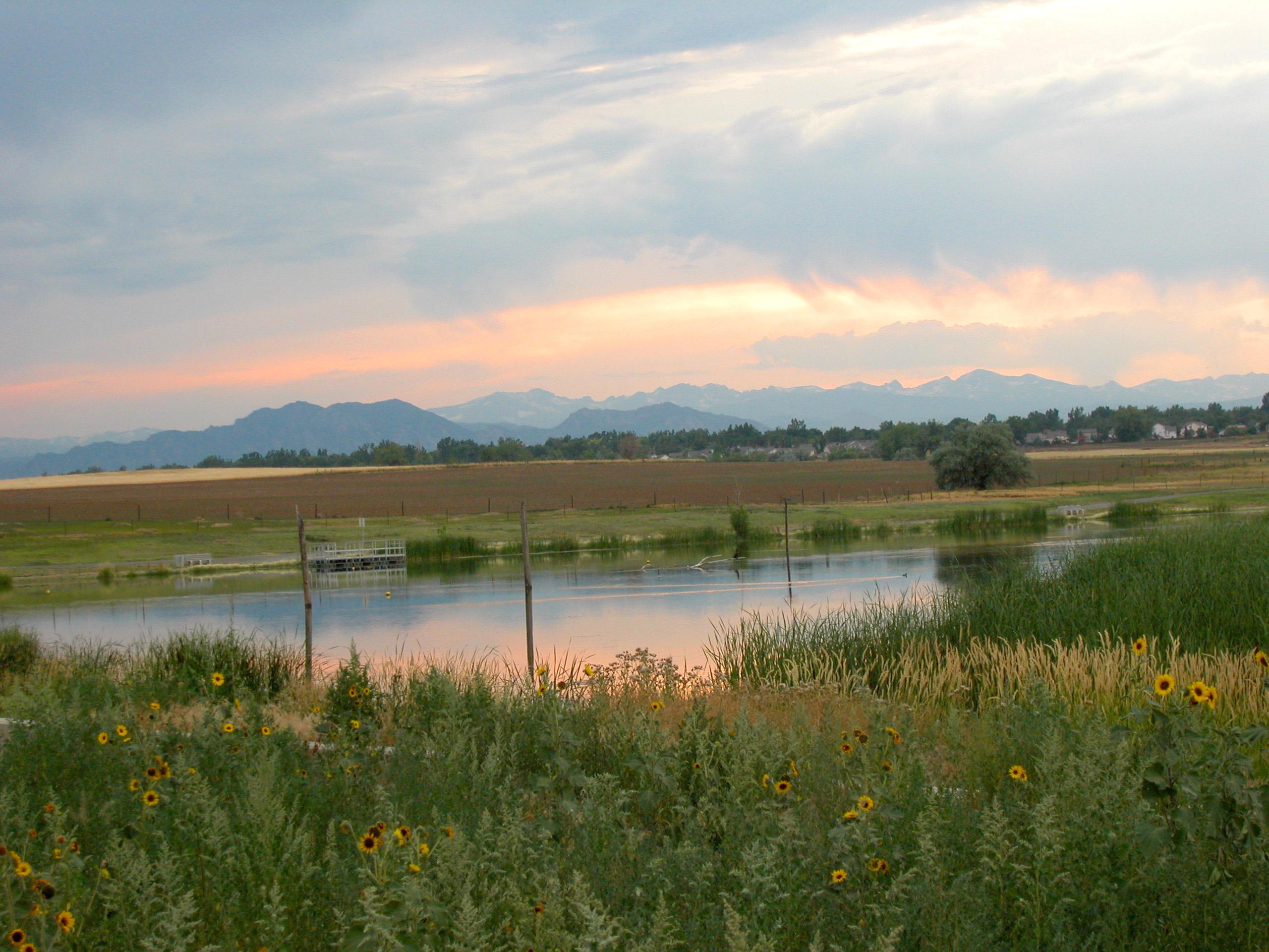 Sunset at Tom Frost Reservoir
