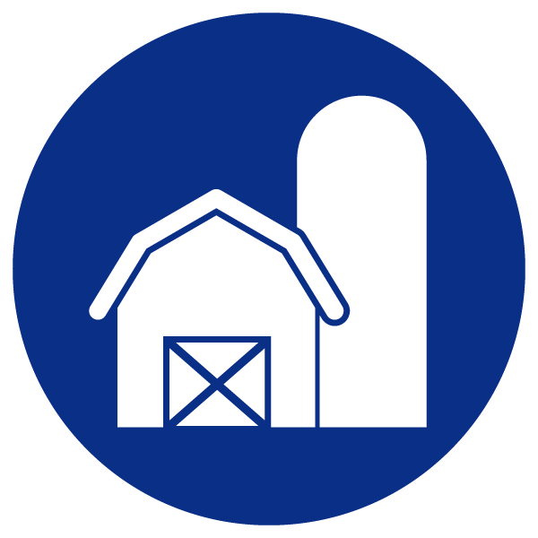 Barn and silo icon