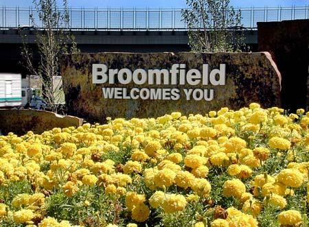 Broomfield Welcome Sign