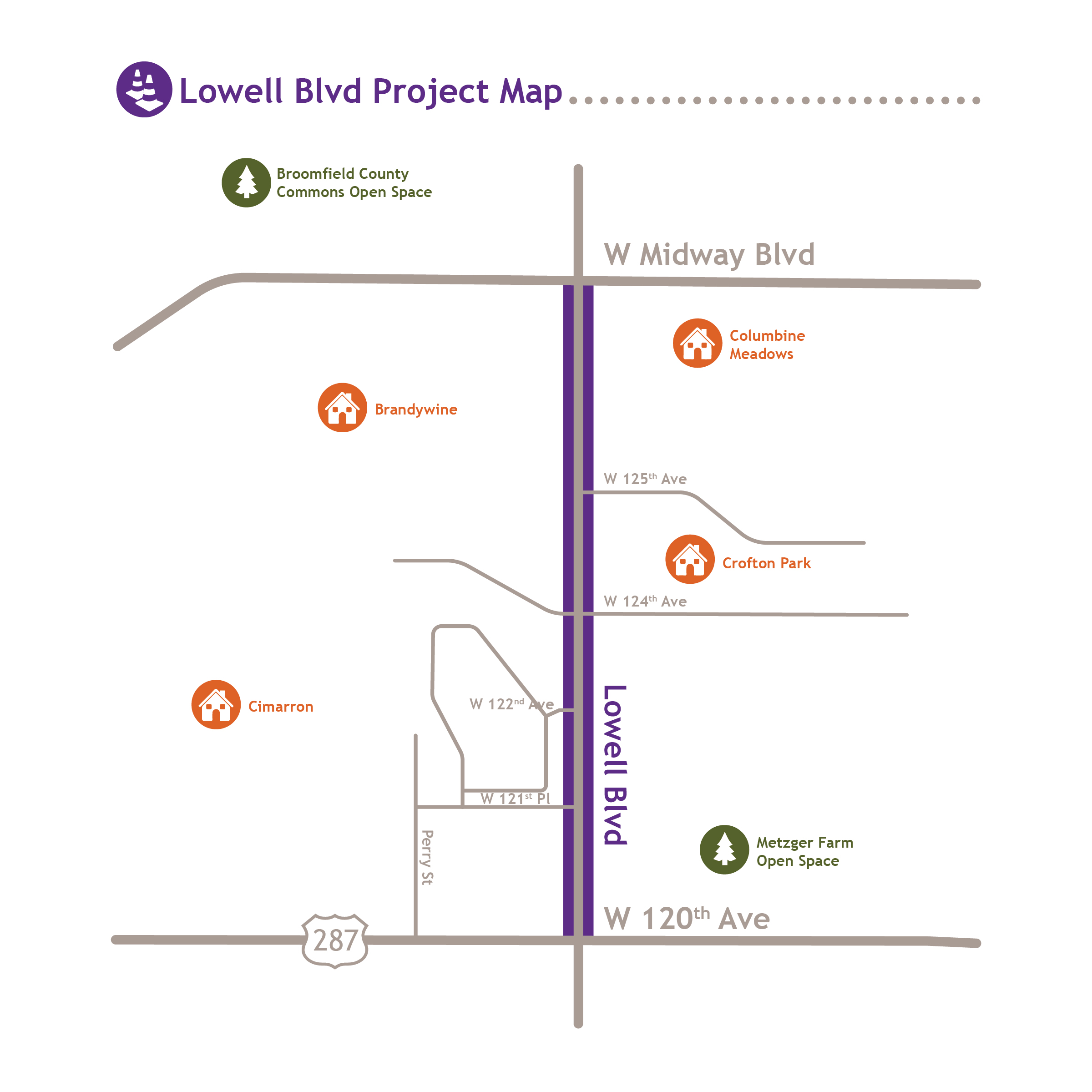 Lowell Blvd South project map
