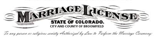 Colorado Marriage License