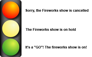 Stop Light Diagram for Fireworks