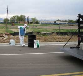 Hazardous material cleanup
